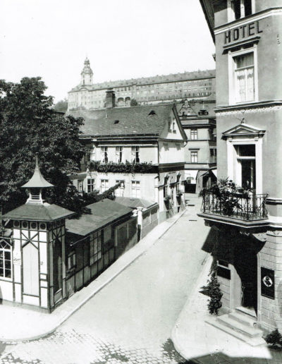 Die Ansicht um 1905