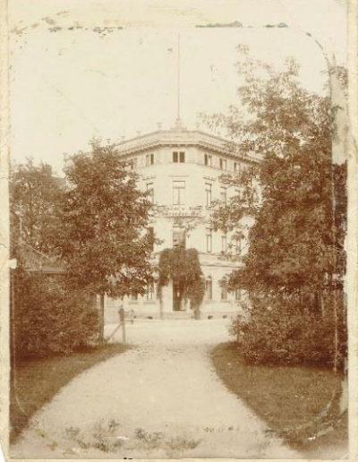 Die Ansicht um 1910