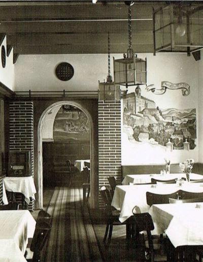 Der Gastraum um 1938