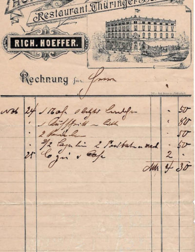 Invoice from 1893