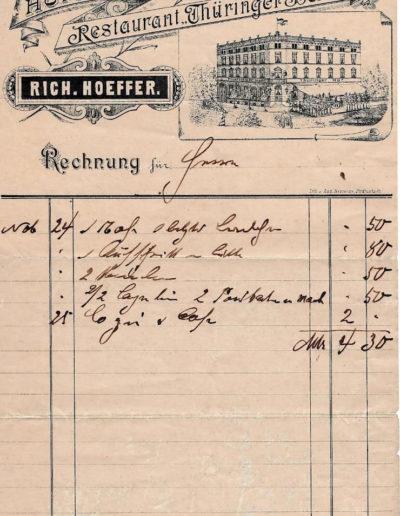 eine Quittung von 1893